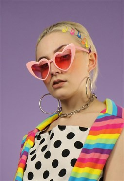 Tinted Heart Sunglasses in Pink