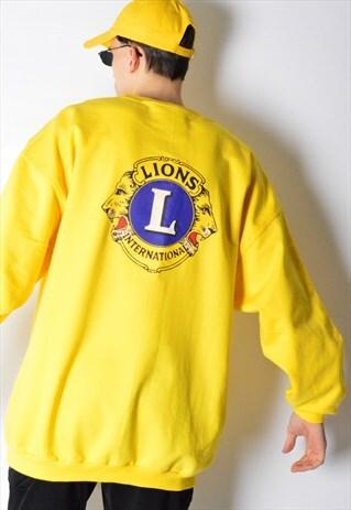 YELLOW LIONS SWEATSHIRT