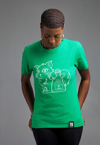 P&P: RECYCLED COTTON ORGANIC T SHIRT (GREEN)