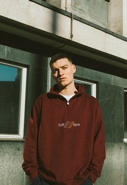 Vice 84 - Burgundy Quarter Zip Sweat