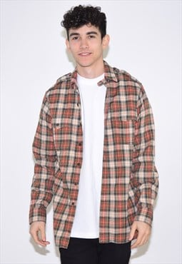 Vintage 90s Red Brown Ralph Lauren Flannel Shirt