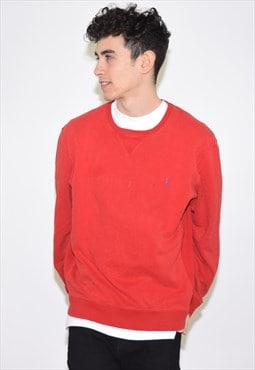 Vintage 90s Red Ralph Lauren Sweatshirt Jumper