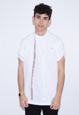 Vintage 90s White Fred Perry Shirt