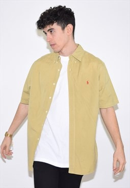 Vintage 90s Yellow Green Ralph Lauren Shirt