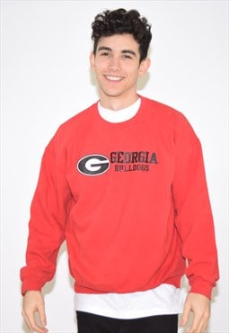 Vintage 90s Red Georgia Sweatshirt Jumper