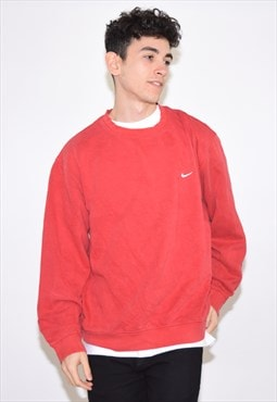 Vintage 90s Red Nike Sweatshirt Jumper