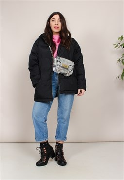 Vintage 90s Oversized Black Puffer Jacket