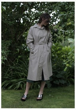 Vintage 80's Grey Trench Coat