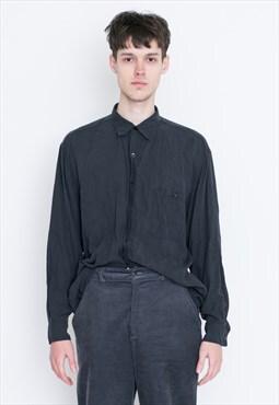 VINTAGE Black Long Sleeve Retro Shirt