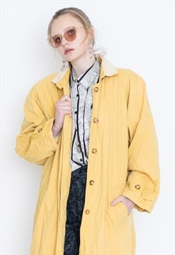VINTAGE Yellow Retro Long Coat