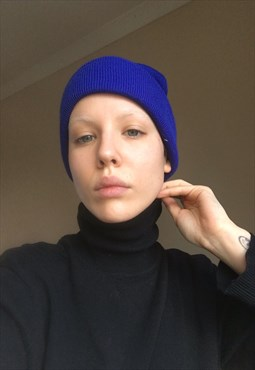 Electric Blue Beanie Hat