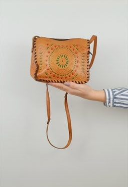 Tooled Shoulder Bag