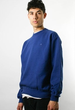 CHAMPION round neck sweatshirt sweater, blue