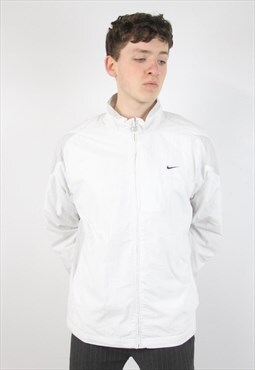 Vintage Nike White Zip-Up Jacket