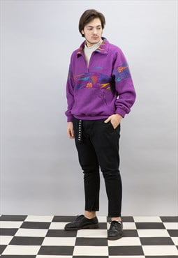 Skater 1/4 zip Lotto Fleece Sweatshirt