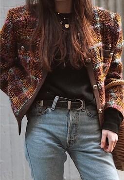 80's Haute Couture tweed jacket