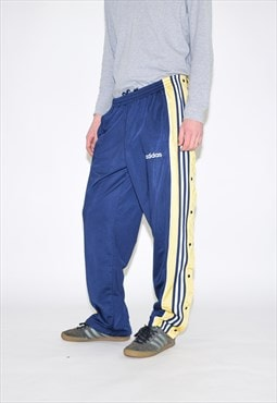 Vintage 90s Blue Yellow Poppers Tracksuit Bottoms
