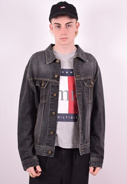 Lee Mens Vintage Denim Jacket XL Black 90's