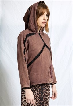Coffe Brown Unique Hoodie Sweatshirt