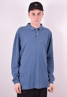 Fila Mens Vintage Polo Shirt Long Sleeve XL Blue 90's