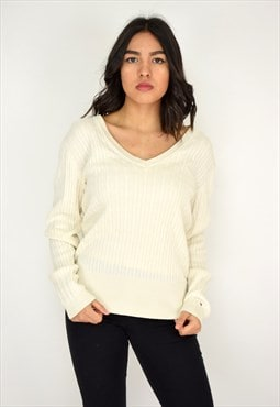 Light Tommy Cable Knit Jumper