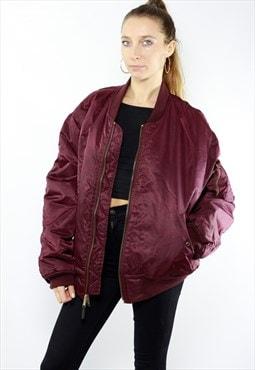 Red Bomber Jacket / Flight Jacket Vintage