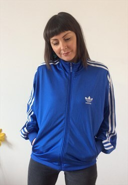 Vintage 90s Blue & White Adidas Jacket