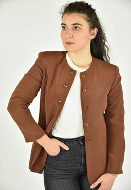 Vintage 90's Jones New York Brown Blazer Size 4