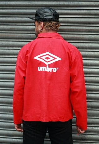 VINTAGE UMBRO LOGO RED TRAINING SPORTS TOP