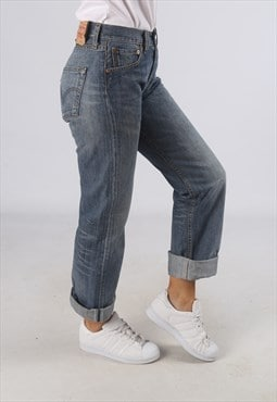 Vintage 501's LEVIS Denim Jeans High Waisted UK 8 (AT4A)