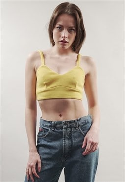 Vintage 90's yellow crop top