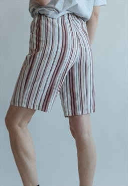 Vintage 80s stripe shorts with pockets