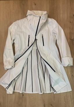 Vintage  raincoat jacket  white  1992