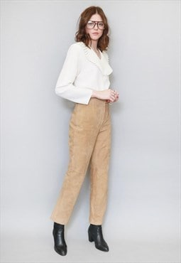 Vintage 1970's Lord & Taylor Brown Suede Trousers