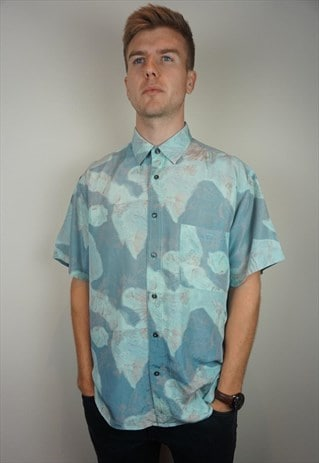 PURE SILK PATTERNED SHIRT