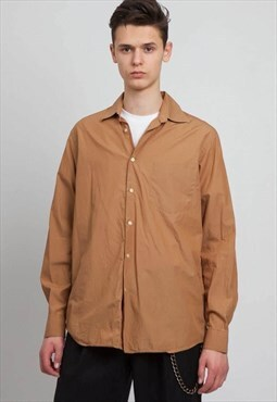 Vintage Brown HUGO BOSS Long Sleeve Shirt