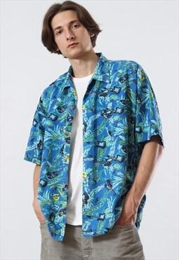Vintage hard rock hawaiian Aloha shirt 90s