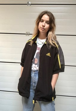 90s vintage black Adidas short sleeved jacket