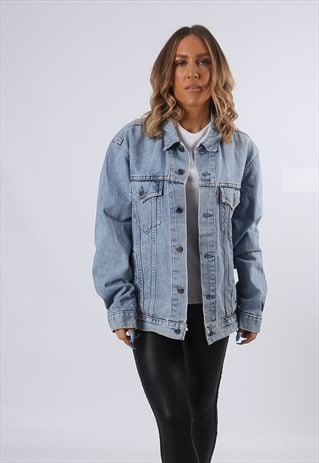 LEVIS DENIM JACKET OVERSIZED FITTED UK 18  (A54K)