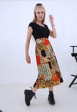 Baroque Print Skirt
