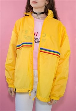 Yellow Rainbow Windbreaker Jacket