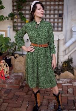 Vintage 80's Green Dress