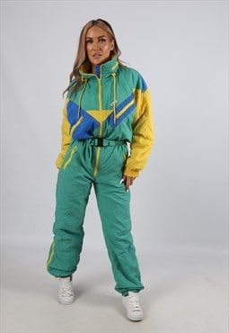 Vintage K-WAY Full Ski Suit Sports Tall UK 10 - 12 (B4Y)