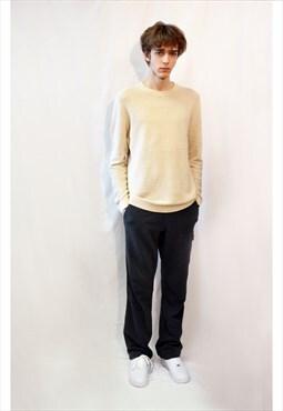 Multi Pockets Cotton Fleece Jogger track pants (Grey)