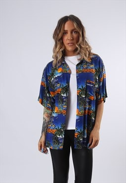 Patterned Shirt Fitted Oversized UK 10 - 12 (BFBT)