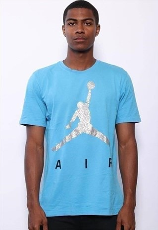 Vintage Jordan Big Logo T-Shirt Light Blue