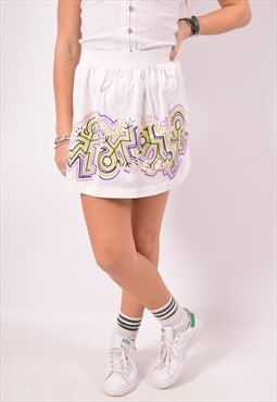 Vintage Sergio Tacchini Mini Skirt White