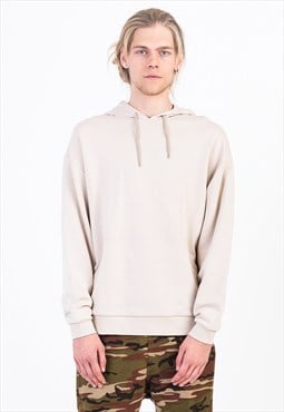 Oversized Hoodie in Cream with Pouch Pocket