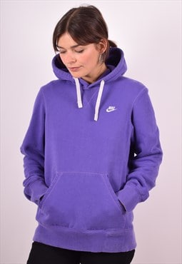 Nike Womens Vintage Hoodie Jumper Small Purple 90s