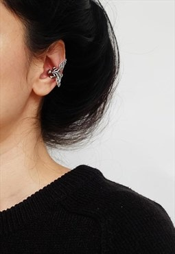 Dragon Ear Cuff Earrings Women Sterling Silver Earrings
